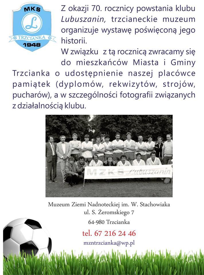 MKS Lubuszanin Trzcianka obchodzi 70-lecie