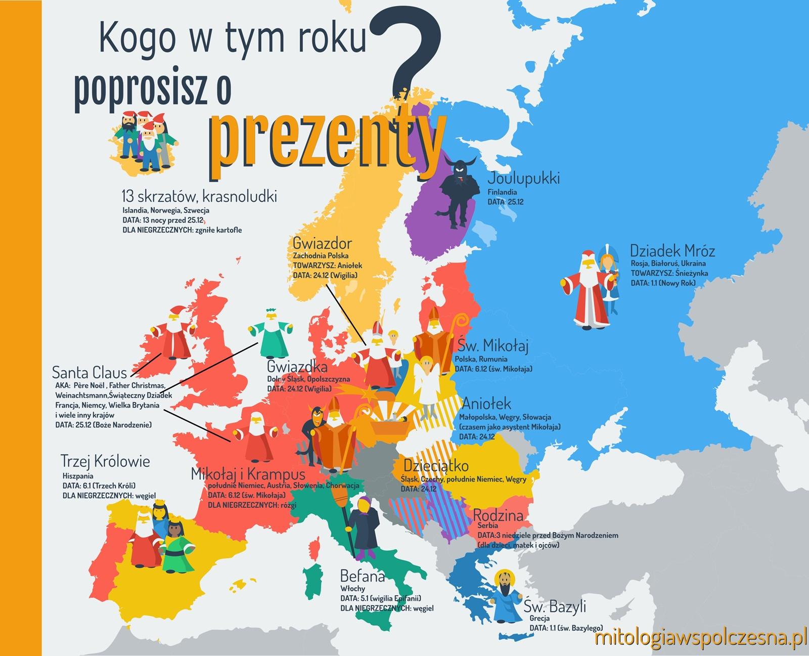prezenty mapa